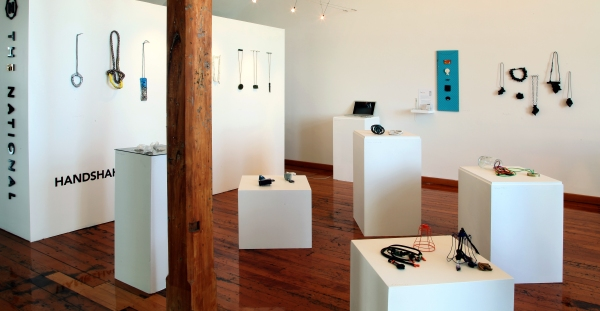 Installation view of Handshake at The National